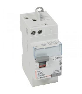 Interrupteur différentiel 2 Pôles  25A, 30 mA, type A, Vis - Auto
