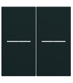 Enjoliveurs pour double interrupteurs à voyant - Night Hager Gallery