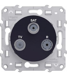 Mécanisme prise TV-FM-SAT Odace styl Anthracite