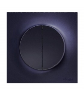 Double bouton poussoir Odace Anthracite