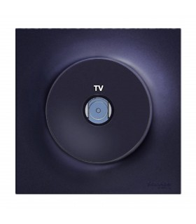 Prise TV Odace Anthracite