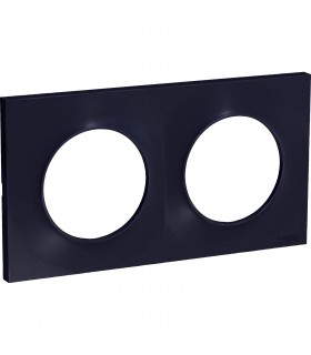Plaque 2 postes Odace Styl Anthracite