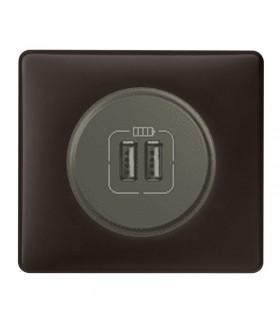 Chargeur USB Céliane Basalte Graphite