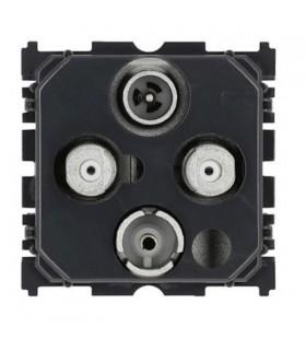 Mécanisme prise TV - R - Sat - Sat (2 câbles)
